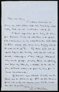 Letter from William Ingersoll Bowditch, to Samuel May, [1861?]