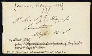 Letter from William James, Kingsdown, Bristol, [England], to Samuel May, Nov. 30, 1843