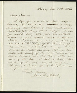 Letter from James Freeman Clarke, to Samuel May, Feb. 26th, 1844