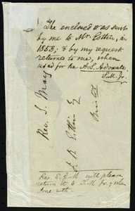 Notes for an article, from Samuel May, to John Bishop Estlin