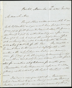 Letter from John Bishop Estlin, Bristol, to Samuel May, November 10th, 1845