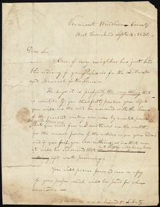 Letter from Samuel Fessenden, Windham County, Vermont, to William Lloyd Garrison, Sept. 4, 1830