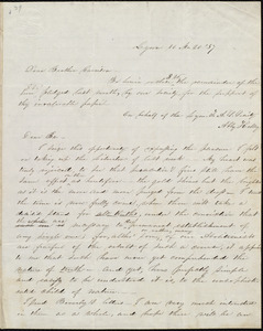 Letter from Abby Kelley Foster, Lynn, [Mass.], to William Lloyd Garrison, 10 Mo[nth] 20 [day] [18]37