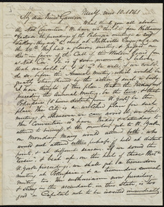 Letter from James Sloan Gibbons, New Y[ork], to William Lloyd Garrison, 2 mo[nth] 10 [day] 1841