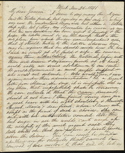 Letter from James Sloan Gibbons, N. York, to William Lloyd Garrison, 3 mo[nth] 24 [day] 1841