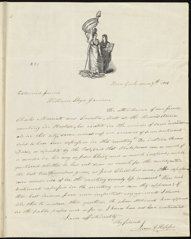 Excellent Letter From Isaac Tatem Hopper New York To William Lloyd Home Interior And Landscaping Ologienasavecom