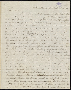 Letter from Abby Kelley Foster, Franklin, N.H., to William Lloyd Garrison, Sept. 26, 1844