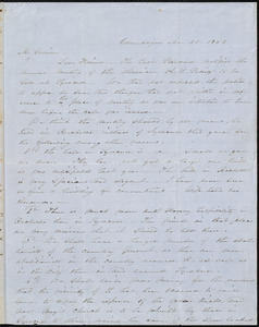Letter from Abby Kelley Foster, Canandaigua, [N.Y.], to William Lloyd Garrison, Mar[ch] 30, 1852