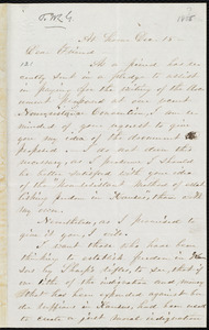 Letter from Abby Kelley Foster, At home, to William Lloyd Garrison, Dec. 15, [1855]