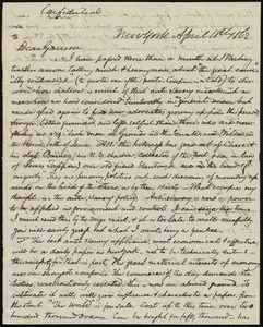Letter from James Sloan Gibbons, New York, to William Lloyd Garrison, April 18th, 1862