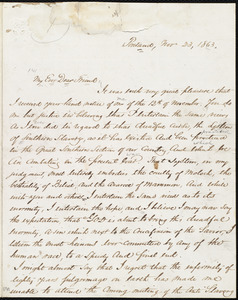 Letter from Samuel Fessenden, Portland, [Maine], to William Lloyd Garrison, Nov. 23, 1863