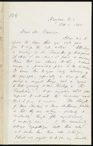 Letter from Thomas Wentworth Higginson, Newport, R.I., to William Lloyd Garrison, Oct. 11, 1868