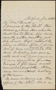 Letter from George Whittemore Stacy, Milford, [Mass.], to William Lloyd Garrison, Jan. 17th, [18]78