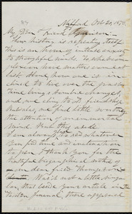 Letter from George Whittemore Stacy, Milford, [Mass.], to William Lloyd Garrison, Oct. 20, 1878