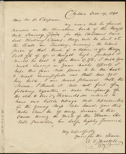 Letter from A. L. Haskell, Chelsea, [Mass.], to Maria Weston Chapman, Dec'r 19, 1840