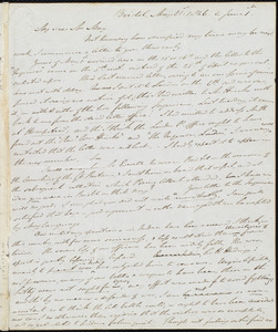 Letter from John Bishop Estlin, Bristol, to Samuel May, May 21st, 1846 to June 1st