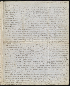 Letter from Samuel May, Leicester, Massachusetts, to John Bishop Estlin, April 29th, 1847
