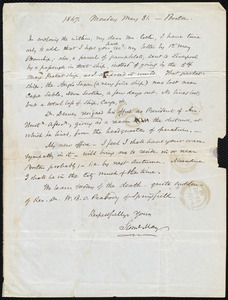 Letter from Samuel May, Boston, to John Bishop Estlin, 1847, Monday May 31