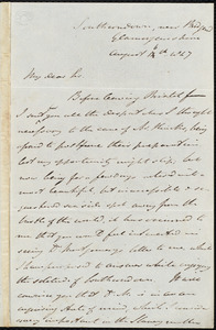 Letter from John Bishop Estlin, Southerndown, Glamorganshire, [Wales], to Samuel May, August 16th, 1847
