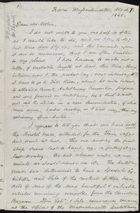 Letter from Samuel May, Boston, to John Bishop Estlin, March 7, 8, and 10, 1848