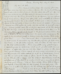 Letter from Samuel May, Boston, to John Bishop Estlin, May 2nd and 3rd, 1848