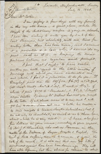Letter from Samuel May, Leicester, Massachusetts, to John Bishop Estlin, July 16 and 18, 1848