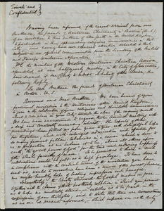 Copy of the reply to the Boston invitation, Gloucester, England?, [April 29, 1847?]