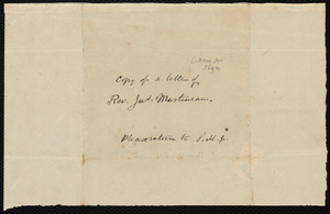Copy of a letter from Samuel May, to William James, [1847?]