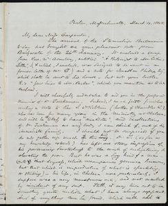 Letter from Samuel May, Boston, to Mary Carpenter, March 4, 1848