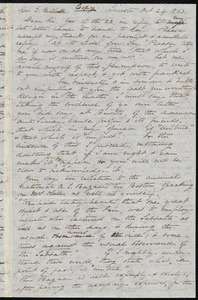 Copy of a letter from Samuel May, Leicester, Mass., to Edward Brooks Hall, [Oct. 24th, 1850?]