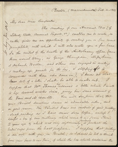Letter from Samuel May, Boston, to Mary Carpenter, Feb. 4, 1851