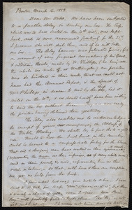 Letter from Samuel May, Boston, to Richard Davis Webb, March 16, 1853