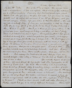 Copy of a letter from Samuel May, Leicester, [Mass.], to Daniel Foster, April 22, 1853