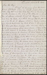 Letter from William P. Powell, Liverpool, [England], to Samuel May, April 5th, 1854