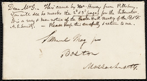 Letter from Parker Pillsbury, Liverpool, [England], to Samuel May, June 2, 1854