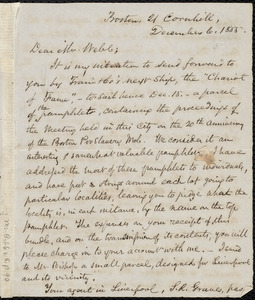 Letter from Samuel May, Boston, to Richard Davis Webb, December 6, 1855