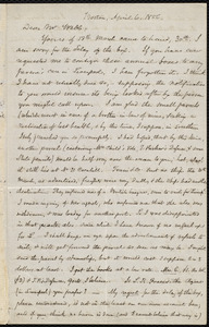 Letter from Samuel May, Boston, to Richard Davis Webb, April 6, 1856