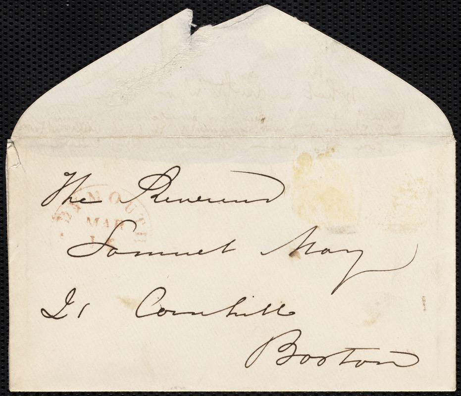Envelope to Samuel May, [Mass.], [March, 18??]
