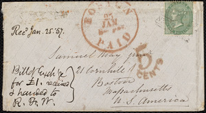 Letter from Samuel May, Boston, to Richard Davis Webb, Feb. 8th, 1857