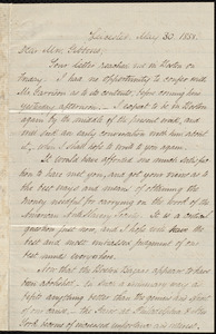 Copy of a letter to Abby Hopper Gibbons, Leicester, [Mass.], May 30, 1858
