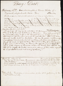 Drafts of biographical sketches by Samuel May, [1858?]