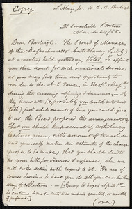 Copy of a letter from Samuel May, Boston, to Charles Calistus Burleigh, [March? 1858]