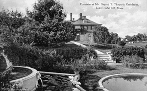 A postcard view of Hawthorne Hill gardens