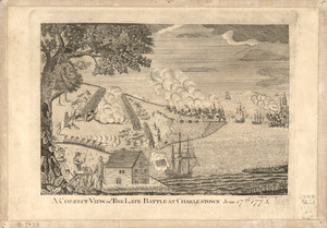 A correct view of the late battle at Charlestown