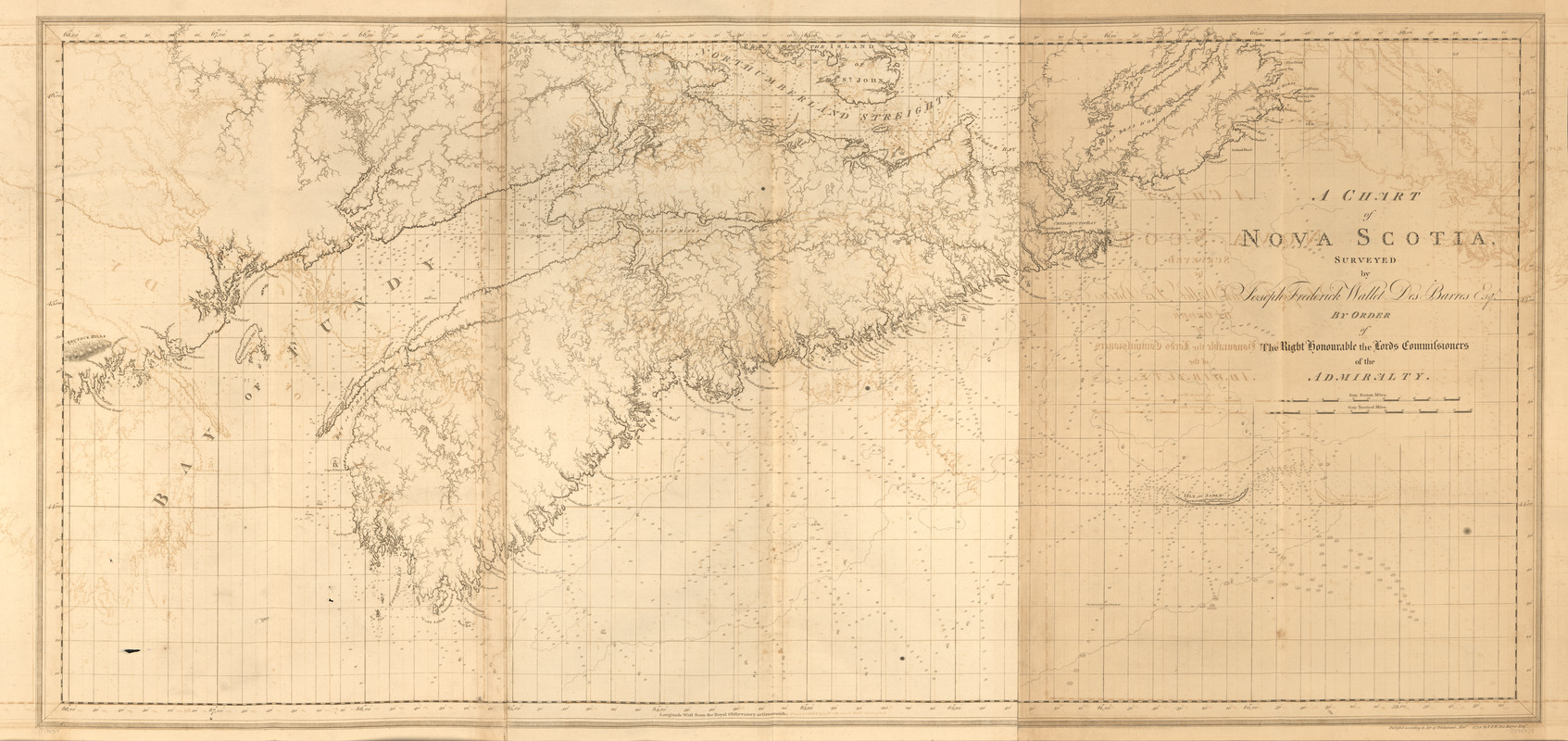 A chart of Nova Scotia