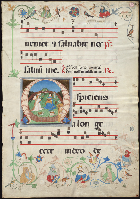 Single leaf from a 15th-century gradual