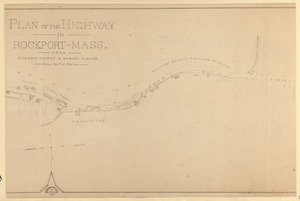 Plan of the highway in Rockport, Mass., from Rail-road Avenue to Samuel Parker's