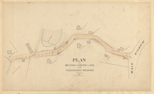 Plan of School House Lane at Pigeon-Cove, Rockport