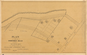 Plan of a proposed road in Rockport, Mass. from the headland to Marmion Way