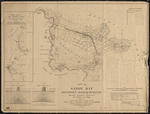 Map of Sandy Bay, Rockport, Massachusetts, showing proposed breakwater for harbor of refuge